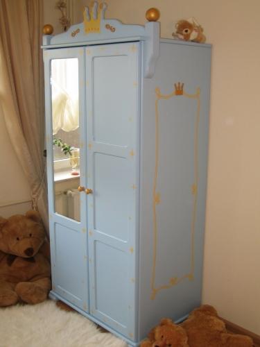 Kleiderschrank blau Prinz