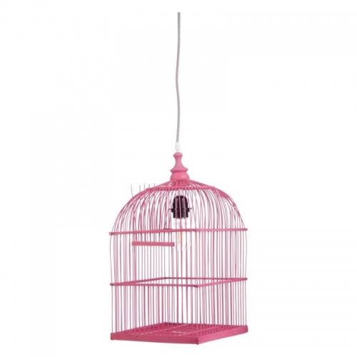 Deckenlampe Vogelkäfig pink