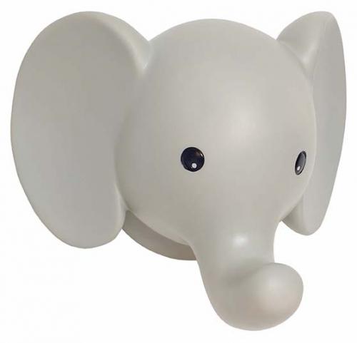 Wandlampe Elefant grau