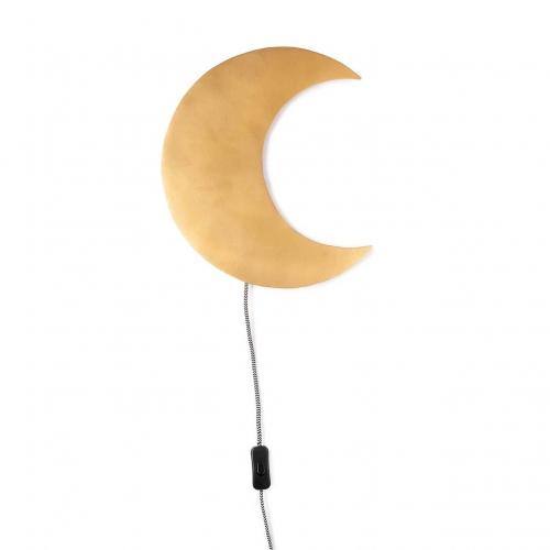 Wandlampe Barbo Mond gold