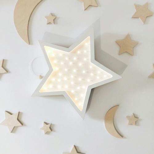 LED Lampe Stern Holz