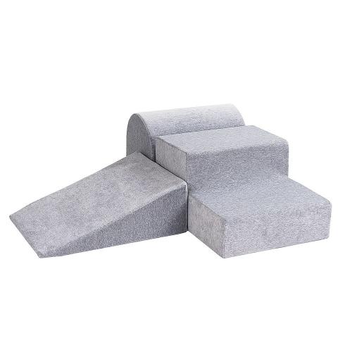 Schaumstoffbausteine grau 3-teilig
