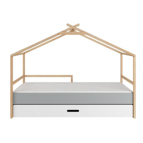Tipi Kinderbett TeePee 90x200cm mit Schublade
