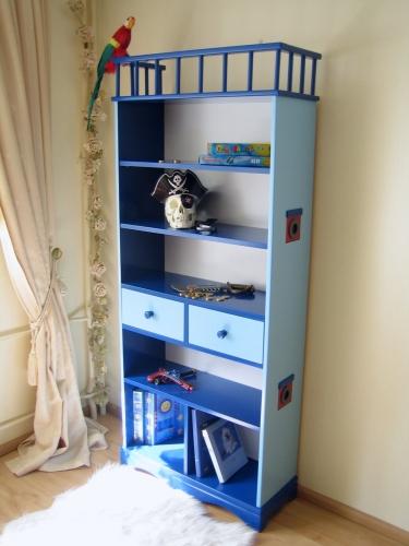 Bücherregal Pirat blau