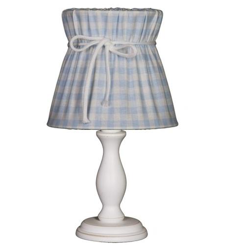 Tischlampe Karo hellblau