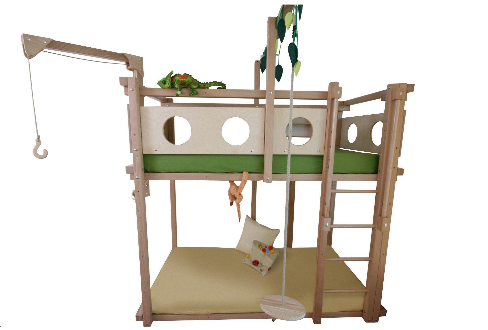 hochbett mit spielbett oli niki. Black Bedroom Furniture Sets. Home Design Ideas