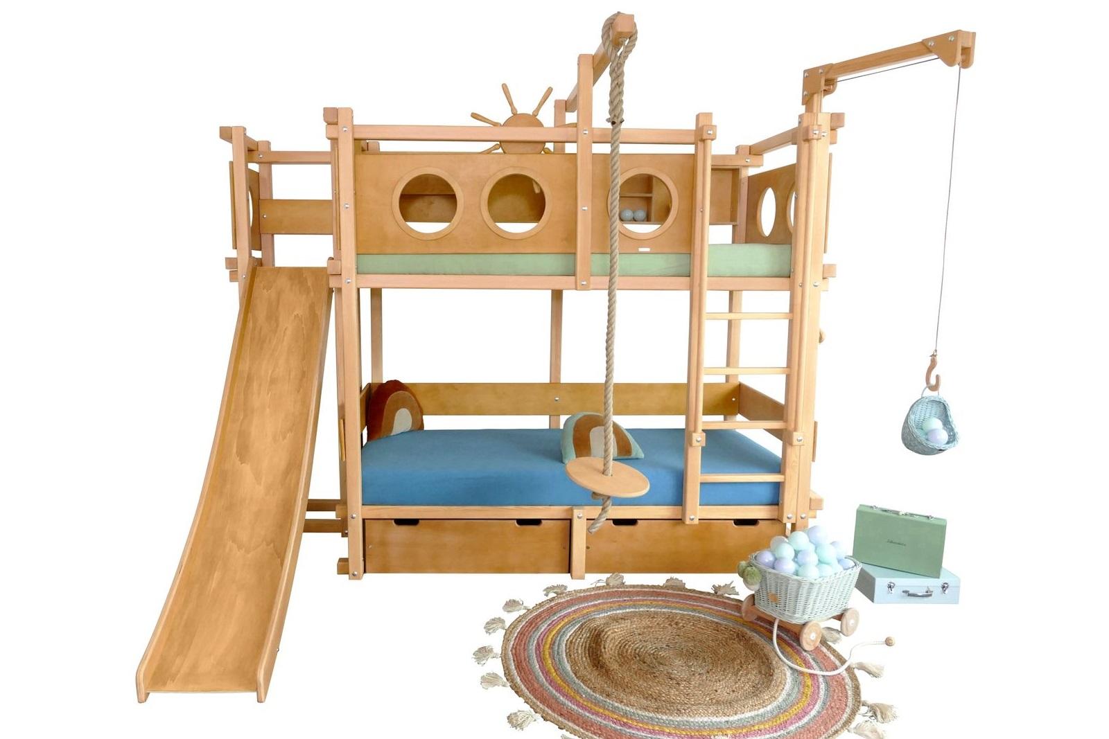 Etagenbett Spielbett : Hochbett mit spielbett oli niki