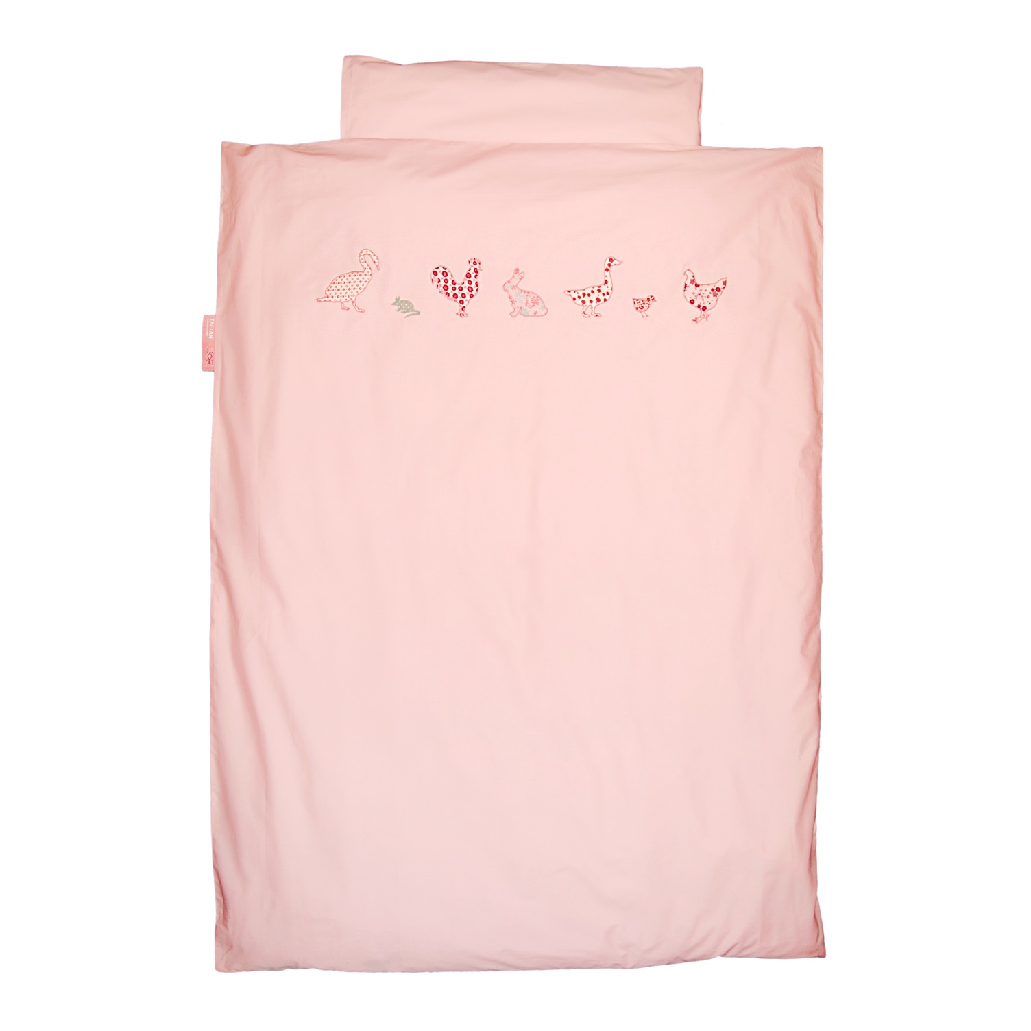baby bettw sche bauernhoftiere rosa oli niki. Black Bedroom Furniture Sets. Home Design Ideas