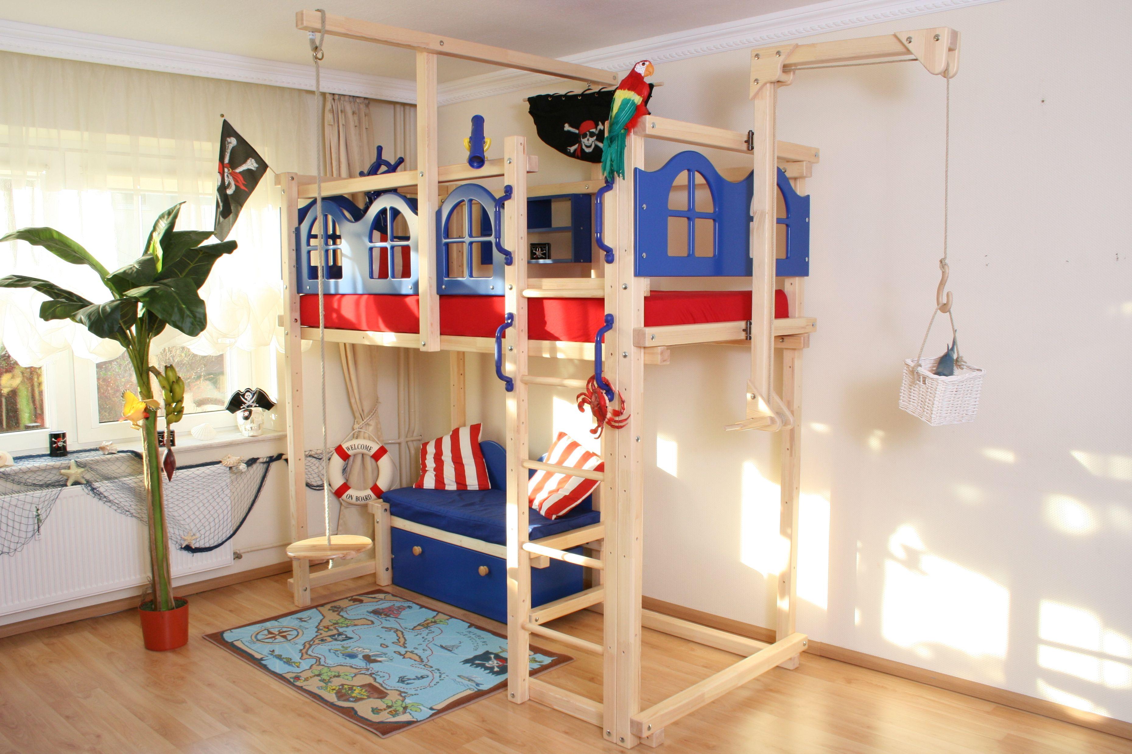 Etagenbett Pirat : Vorhang tlg pirat schwarz für spielbett hochbett real