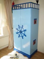 Kleiderschrank Pirat blau