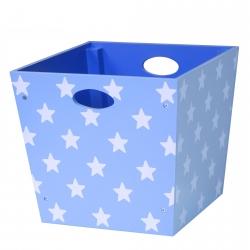 Holzbox Sterne blau