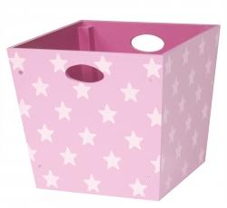 Holzbox Sterne rosa