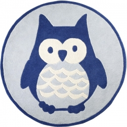 Teppich Eule blau