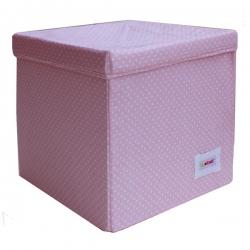 Aufbewahrungswürfel Punkte rosa