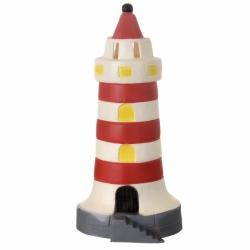 Lampe Leuchtturm rot