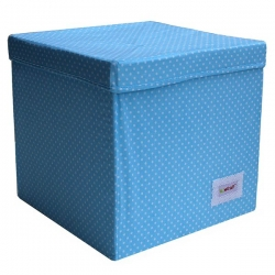 Aufbewahrungswürfel Punkte hellblau