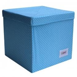 Aufbewahrungswürfel Karo blau