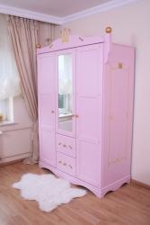Kleiderschrank Prinzessin rosa 3 türig