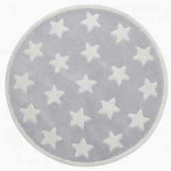 Teppich Sterne grau