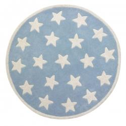 Teppich Sterne blau