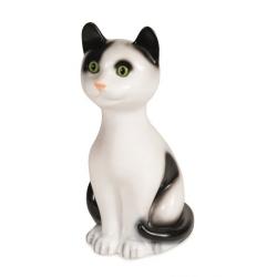 Lampe Katze weiß-braun