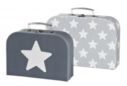 Spielkoffer Sterne grau