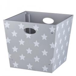 Holzbox Sterne grau