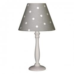 Tischlampe Punkte grau