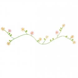 Stoffgirlande Gänseblümchen