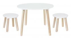 Kindertisch rund mit Stühlen