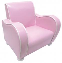 Kindersessel Kunstleder rosa