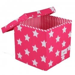 Aufbewahrungswürfel Sterne pink