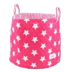 Aufbewahrungskorb Sterne pink