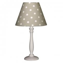 Nachttischlampe Sterne taupe