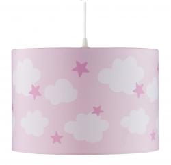 Deckenlampe Wolken Sterne rosa
