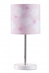 Tischlampe Wolken Sterne rosa