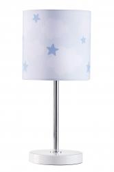 Tischlampe Wolken Sterne blau