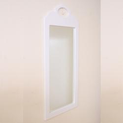 Wandspiegel weiß Kristallserie