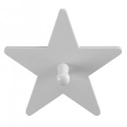 Kleiderhaken Stern grau