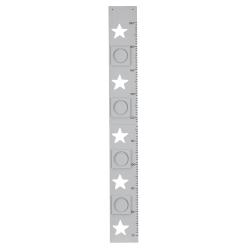 Messlatte Sterne grau
