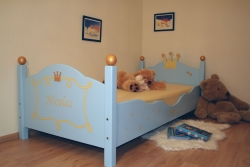 Kinderbett blau Prinz