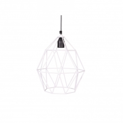 Deckenlampe Diamant weiß