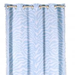 Vorhang Zebra blau