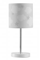 Tischlampe Wolken Sterne grau
