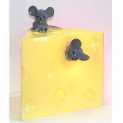 Lampe Käse mit Mäusen