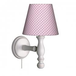 Wandlampe Karo rosa