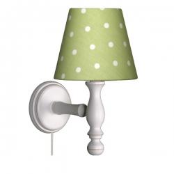 Wandlampe Punkte grün