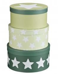 Aufbewahrungsboxen Sterne grün
