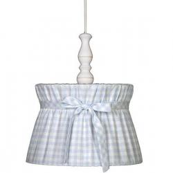 Deckenlampe Karo hellblau