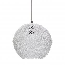Runde Metall Deckenlampe weiß Scoop